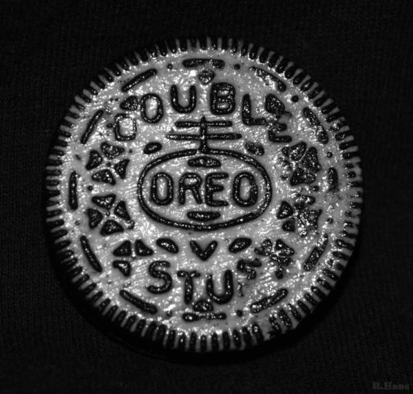 Wall Art - Photograph - Doulble Stuff Oreo In Black And White by Rob Hans