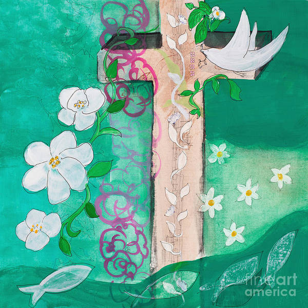 Painting - Dove Cross by Robin Maria Pedrero