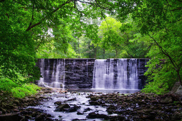 Photograph - Dove Lake Waterfall In Gladwyne Pa by Bill Cannon