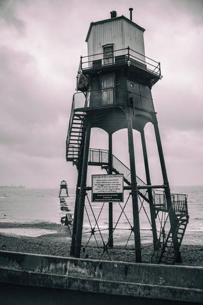 Logistics Photograph - Dovercourt Lighthouses by Martin Newman