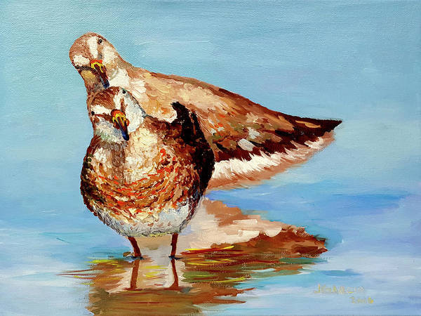 Painting - Dowitcher Birds by Janet Garcia