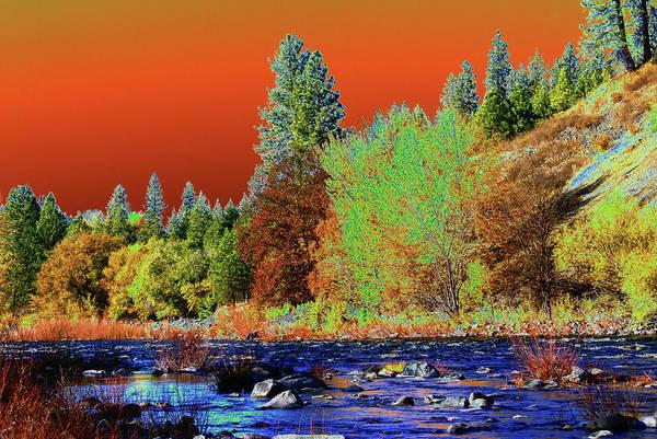 Spokane Digital Art - Down Along The Spokane River by Ben Upham III