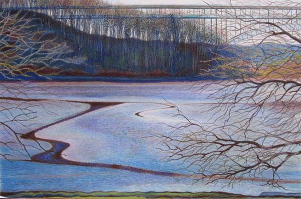 Impressionistic Landscape Drawing - Down By Indian Rd Waters Northern Manhattan by Len Cicio