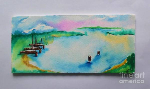 Oak Harbor Painting - Down By The Bay by Camille Brighten