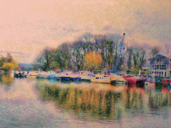 Digital Art - Down By The Riverside by Leigh Kemp