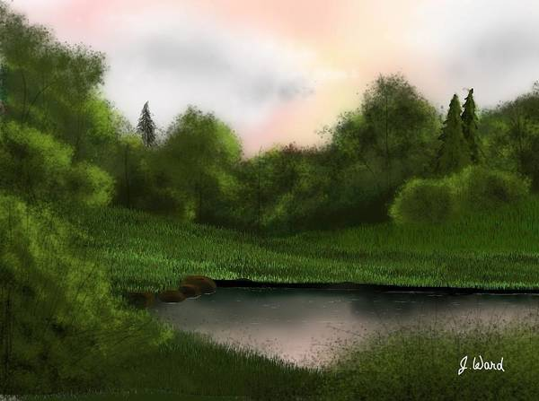 Growing Up Digital Art - Down By The Swimming Hole by James Ward