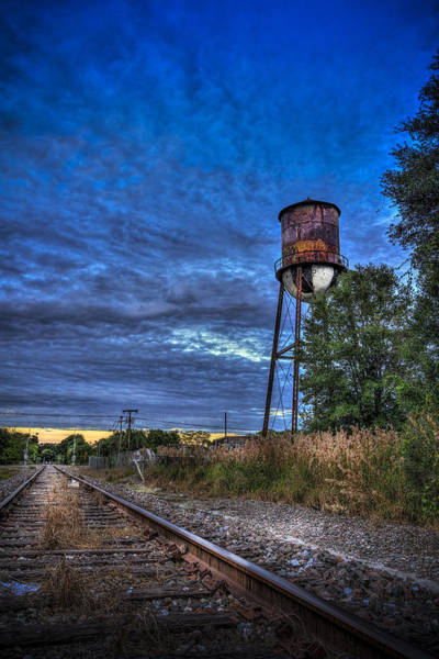Rail Crossing Photograph - Down By The Tracks by Marvin Spates