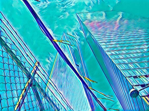 Nyc Digital Art - Down By The Water by Gina Callaghan
