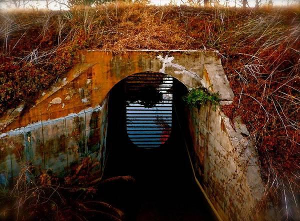 Down The Drain Wall Art - Photograph - Down Here by Darin Baker