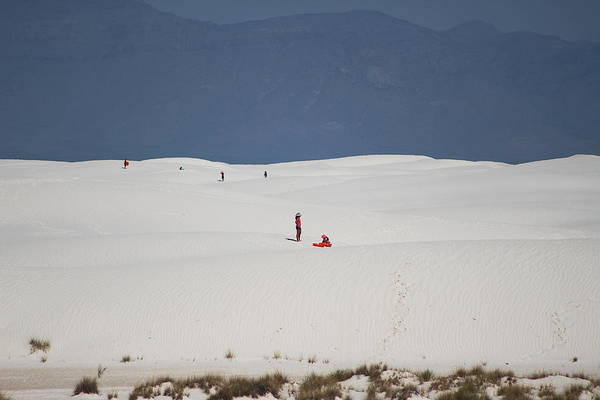 Photograph - Down Hill In White Sands by Colleen Cornelius