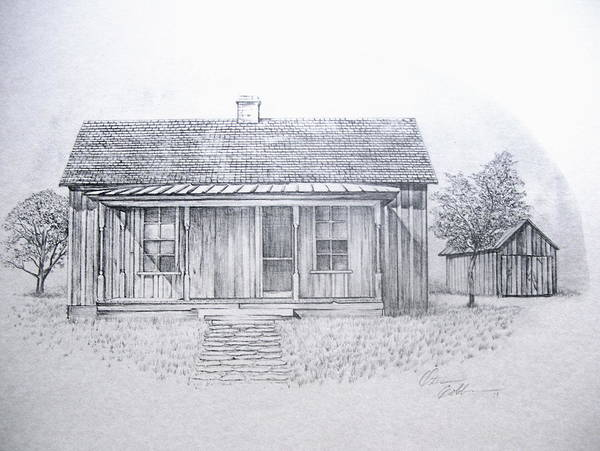Homestead Drawing - Down Home by Otis  Cobb