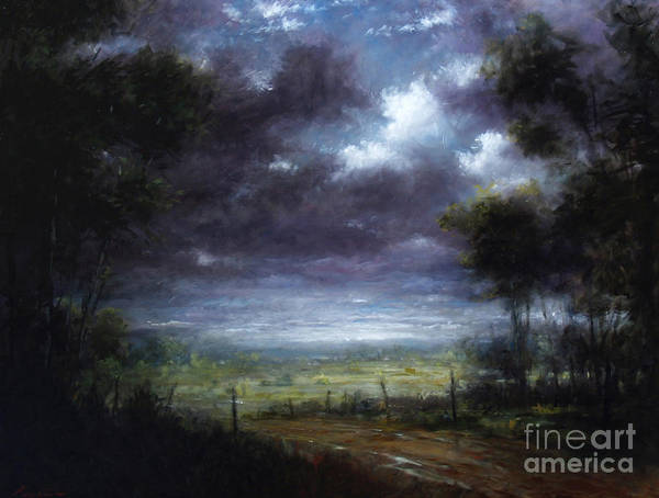 Wall Art - Painting - Down In To The Valley by Lawrence Preston