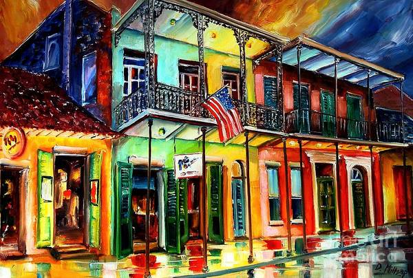 Louisiana Wall Art - Painting - Down On Bourbon Street by Diane Millsap