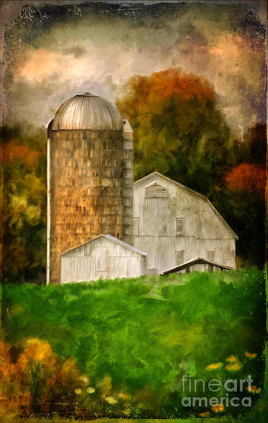 Digital Art - Down On The Farm by Lois Bryan