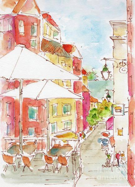Painting - Down Rua Serpa Pinto Lisbon by Pat Katz