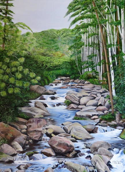 Painting - Down Stream  by Marilyn McNish