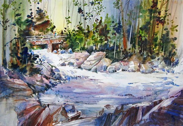 Painting - Down Stream On Hoppers Creek by P Anthony Visco