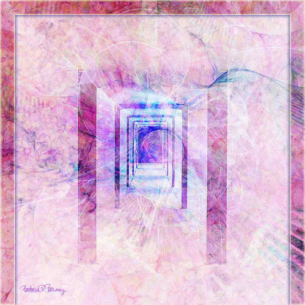 Digital Art - Down The Hall by Barbara Berney