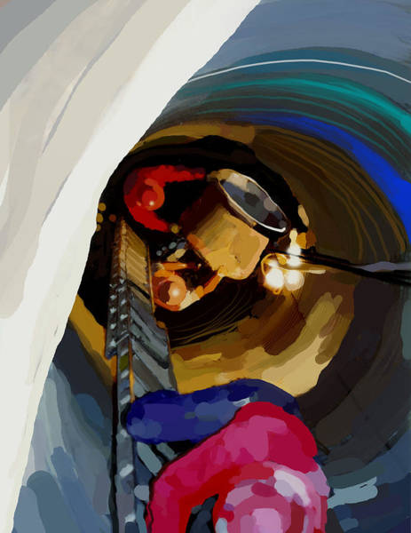 Construction Painting - Down The Hole by Brad Burns