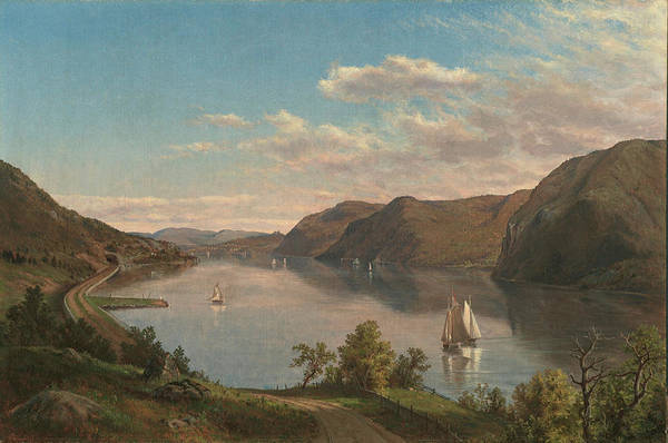 West Point Painting - Down The River To West Point by MotionAge Designs