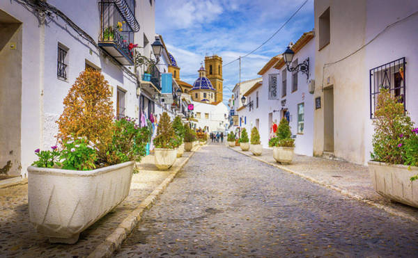 Photograph - Down The Street, Altea, Spain. by Gary Gillette