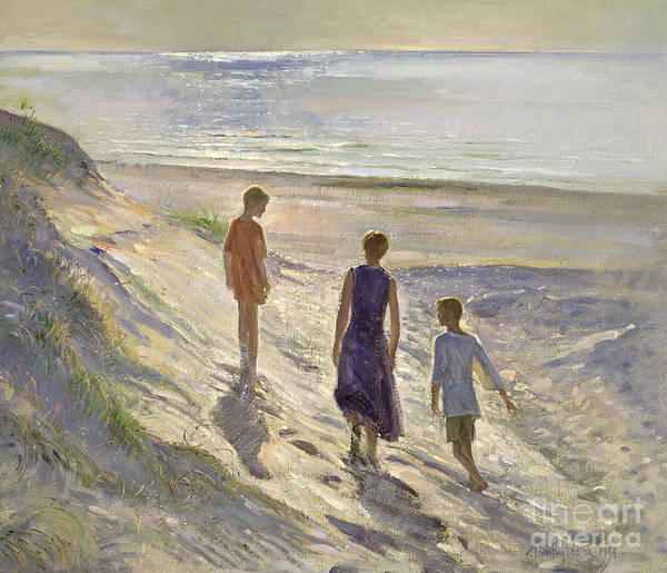 Painting - Down To The Sea by Timothy Easton