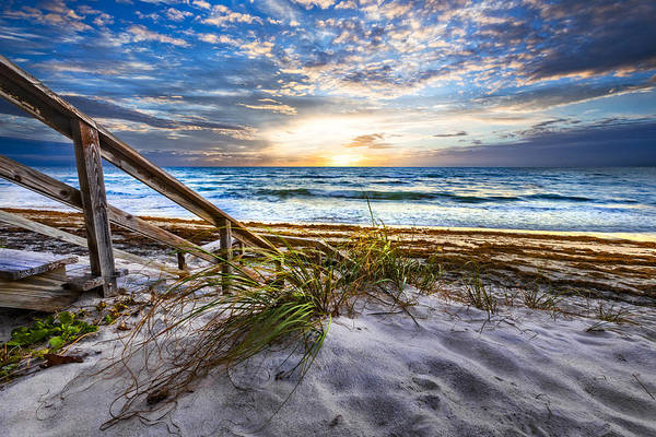 Boynton Photograph - Down To The Shore by Debra and Dave Vanderlaan