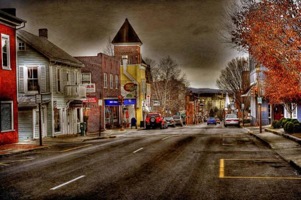 Rockbridge County Photograph - Down Town Lexington Va by Todd Hostetter