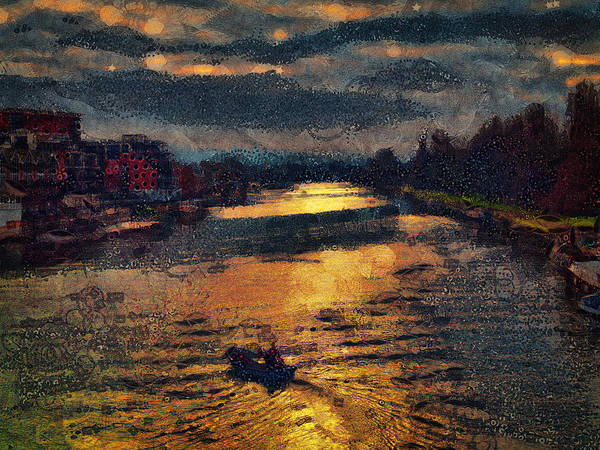 Digital Art - Down Town Up River by Leigh Kemp