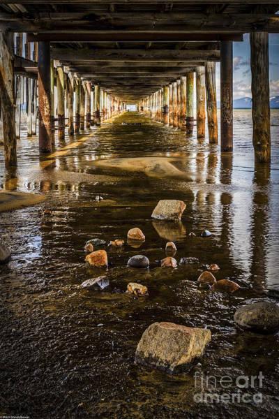 Under The Pier Photograph - Down Under by Mitch Shindelbower
