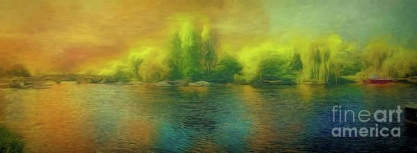 Downriver Glow Art Print