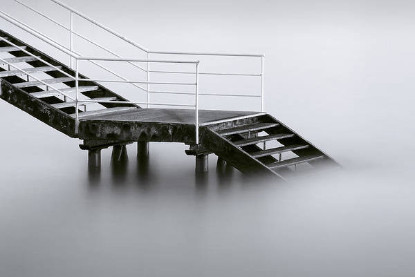 Stairs Wall Art - Photograph - Downstairs by Inigo Barandiaran