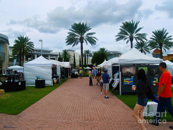 Photograph - Downtown Art Show In Tropical Paradise Florida C1 by Ricardos Creations