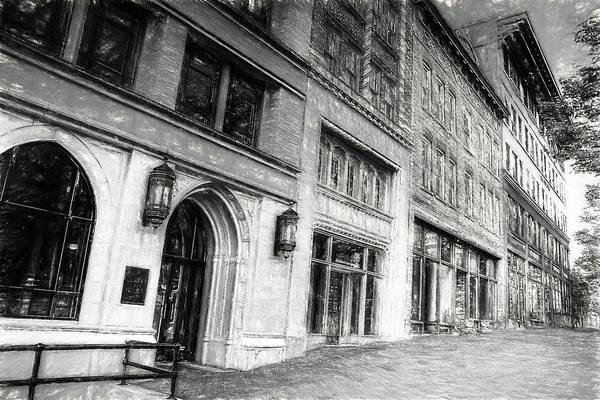 Photograph - Downtown Asheville City Street Scene II Charcoal Drawing by Carol Montoya