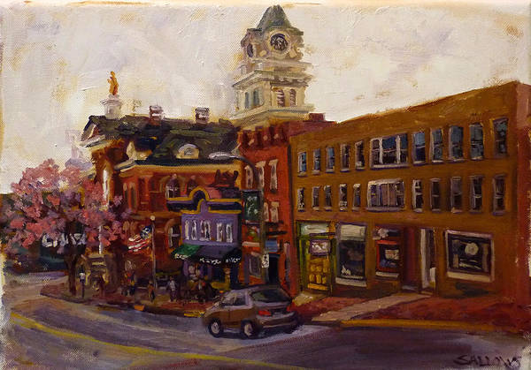Courthouse Painting - Downtown Athens Ohio by Nora Sallows