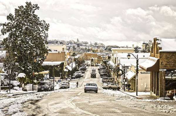 Photograph - Downtown Auburn In The Snow 3 by Sherri Meyer