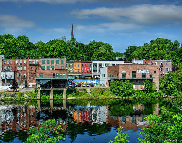Ken Morris Digital Art - Downtown Augusta, Maine by Ken Morris