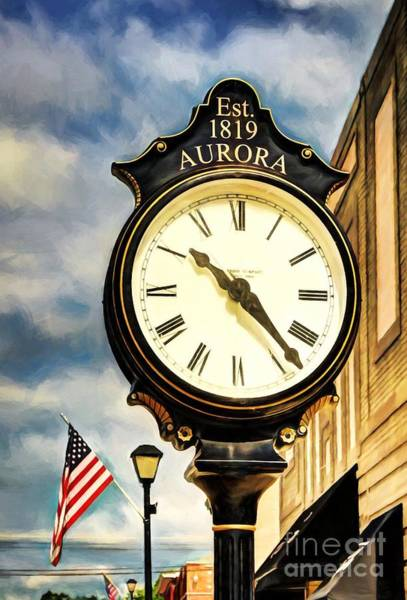 Photograph - Downtown Aurora Indiana by Mel Steinhauer