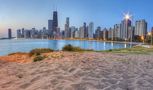 Sears Tower Photograph - Downtown Chicago From North Beach by Twenty Two North Photography