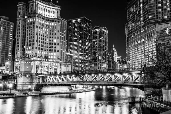 Wall Art - Photograph - Downtown Chicago Michigan Avenue Bridge Picture by Paul Velgos