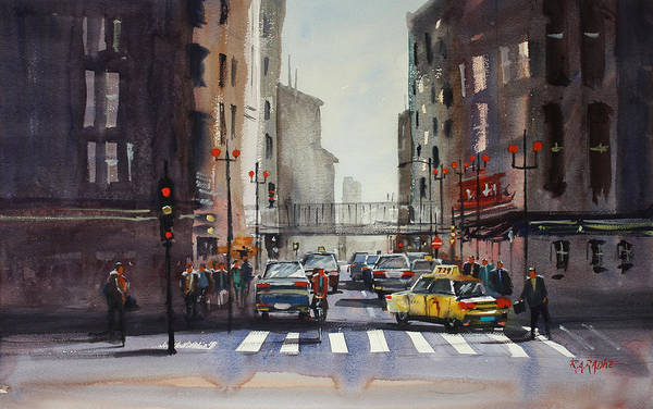 Wall Art - Painting - Downtown Chicago by Ryan Radke