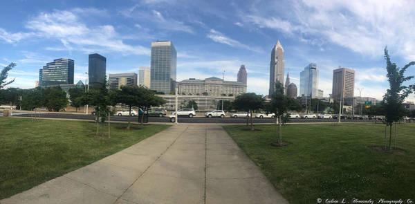 Hilton Hotel Digital Art - Downtown Cleveland Panorama by Calvin L Hernandez