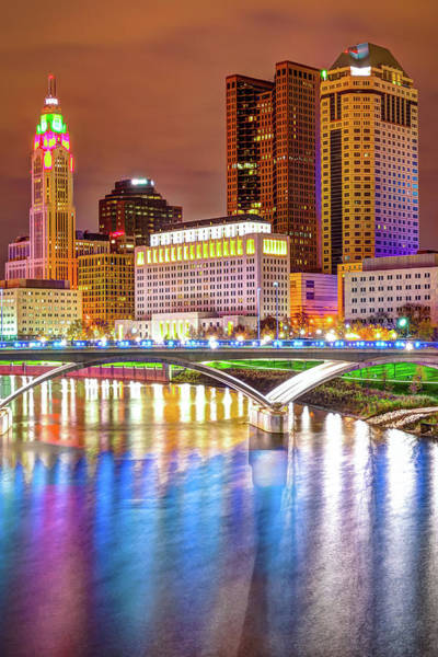 Photograph - Downtown Columbus Skyline And Bridge by Gregory Ballos