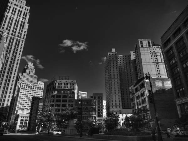 Photograph - Downtown Detroit 004 Bw by Lance Vaughn
