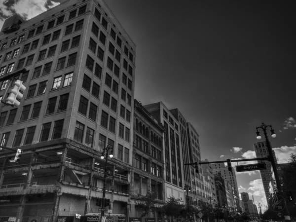 Photograph - Downtown Detroit 005 Bw by Lance Vaughn