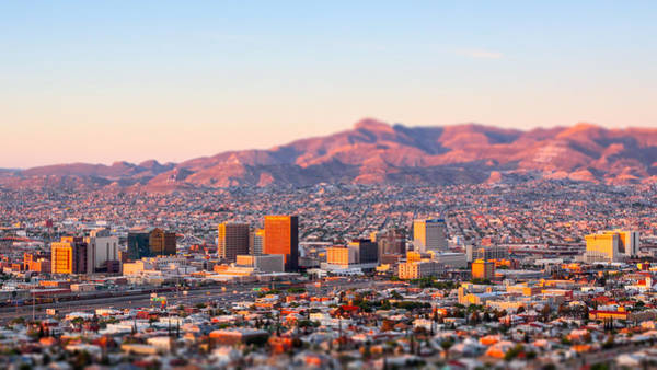 Photograph - Downtown El Paso Sunrise by SR Green