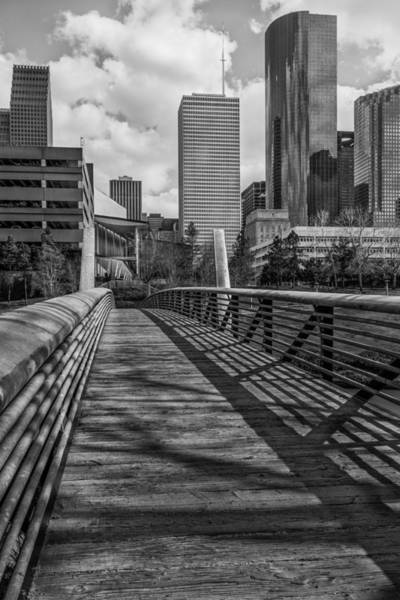 Photograph - Downtown Entrance - Bw View by James Woody