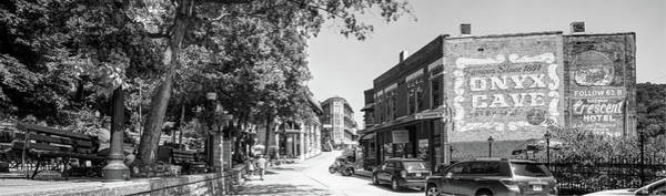 Photograph - Downtown Eureka Springs Arkansas Panorama In Black And White by Gregory Ballos