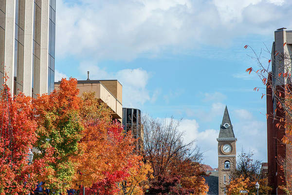Courthouse Towers Wall Art - Photograph - Downtown Fayetteville Arkansas Autumn Colors by Gregory Ballos