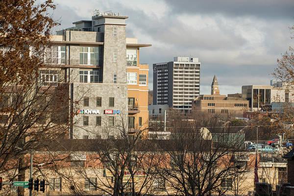 Fayetteville Photograph - Downtown Fayetteville Arkansas Skyline - Dickson Street by Gregory Ballos